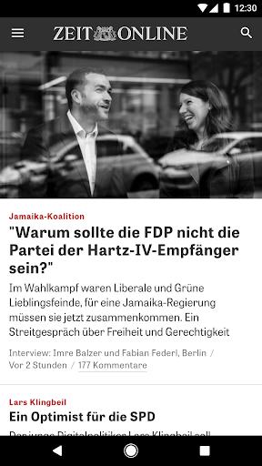 ZEIT ONLINE - Nachrichten 1.9.7 screenshots 1