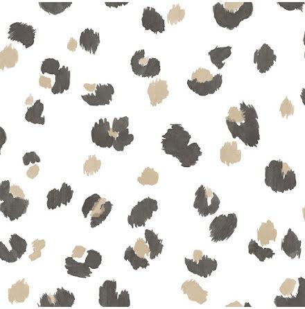 Leopardmönstrad tapet med guld