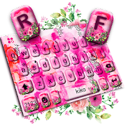 Paint Brush Love Rose Keyboard Theme APK for Bluestacks