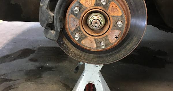 Brake rotor and mounted caliper