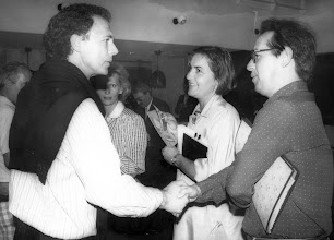 Photo: Beckenbauer saluda a Amado Moreno en el hotel Palm Beach de Maspalomas