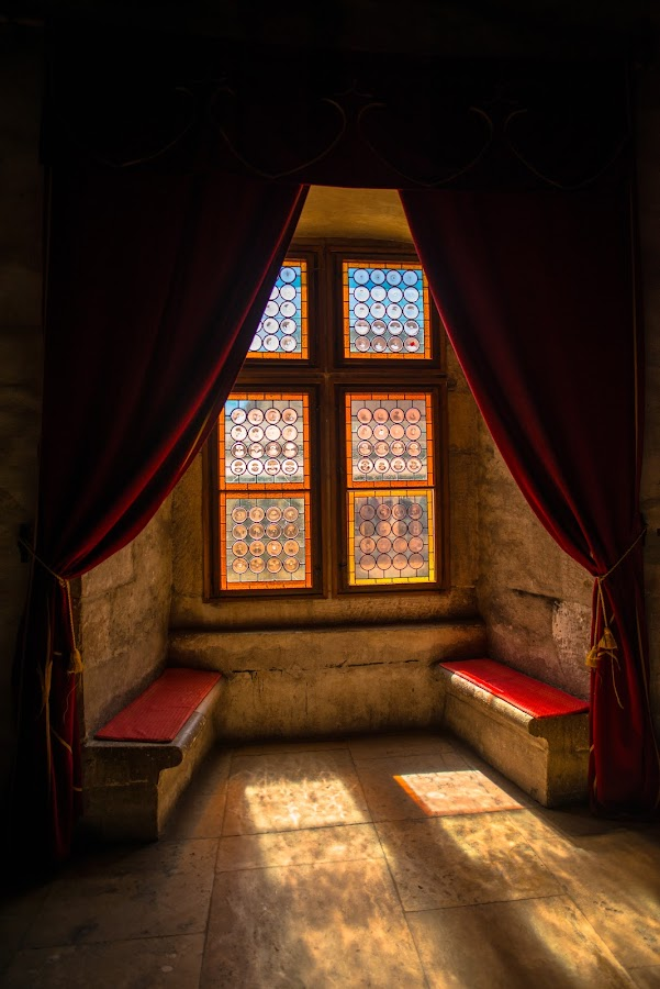 Window of medieval castle by Stefan Sorean - Buildings & Architecture Architectural Detail ( yard, transylvania, castle, old, dracula, medieval, tourism, romania, history, inside, inner, ancient, summer, building, view, fortress, bran, hunedoara, corvinesti, travel, europe, landscape, tower, architecture )