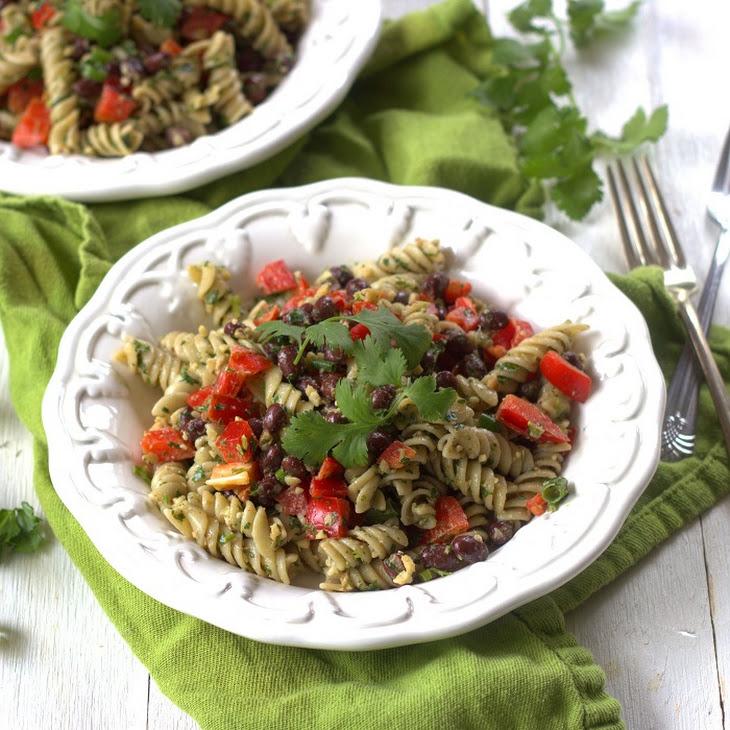 Cilantro Pesto Pasta & Black Bean Salad