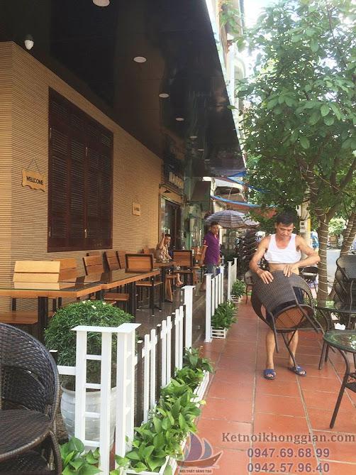 thi công quán cafe diện tích nhỏ hiện đại