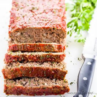 Low Carb Meatloaf (Paleo, Gluten-free).