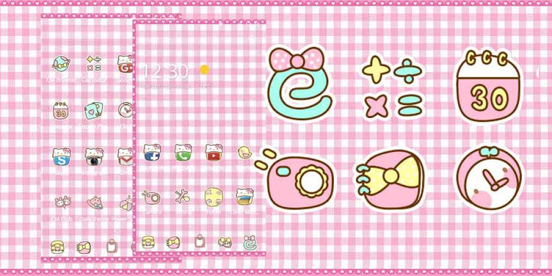 Pink Princess Kitty Theme - screenshot