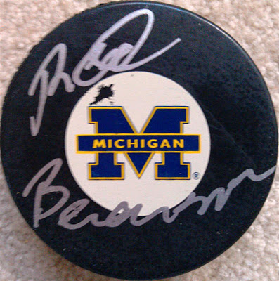Photo: Red Berenson game-used puck