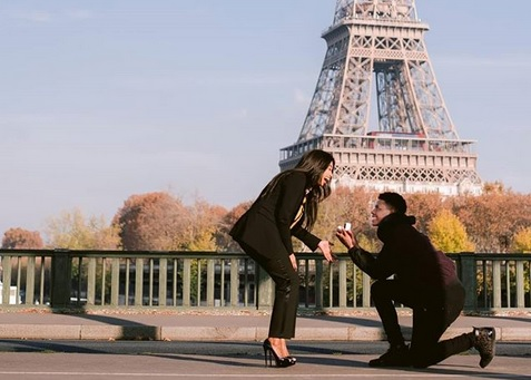 Amiens SC midfielder Bongani Zungu and his long time sweetheart Khanyi Cele at Paris' iconic Eiffel Tower.