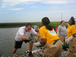 Photo: Americorps NCCC building reef 2007