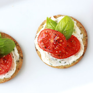 Herb Cheese Spread with tomato and basil