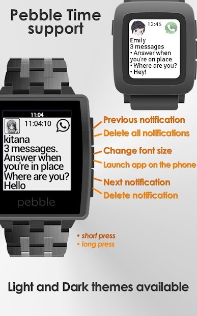 Notify for Pebble Android App Screenshot