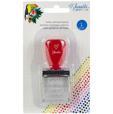 Shimelle Box Of Crayons Roller Stamp - Phrases