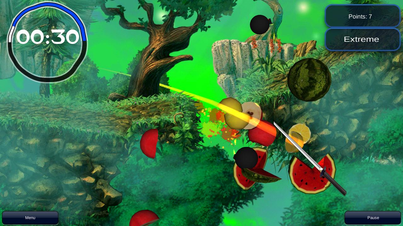 Cut fruits game - Screenshots
