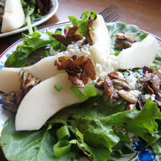 Pear and Blue Cheese Salad with Maple Spiced Toppings