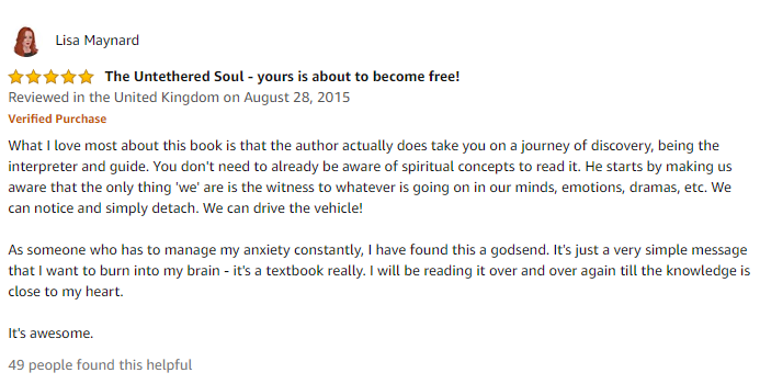 The Untethered Soul: The Journey Beyond Yourself by Michael A. Singer review