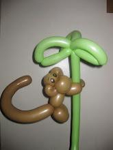 Photo: Monkey balloon twisting by Maria, Chino 888-750-7024 http://www.memorableevententertainment.com/FacePainting/MariaChino,Ca.aspx