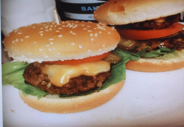 Barbecueburgers On Home Made Garlic Buns Recipe