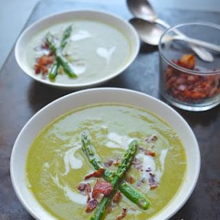 Creamy Asparagus & Bacon Soup