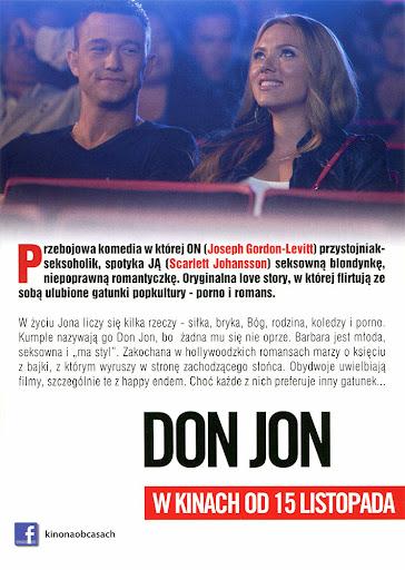 Tył ulotki filmu 'Don Jon'