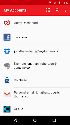 Authy 2-Factor Authentication screenshot 4