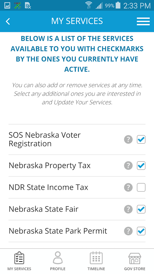 Gov2Go- screenshot
