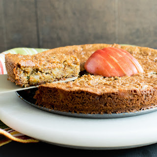 Pan Seared Vegan Apple Almond Cake.