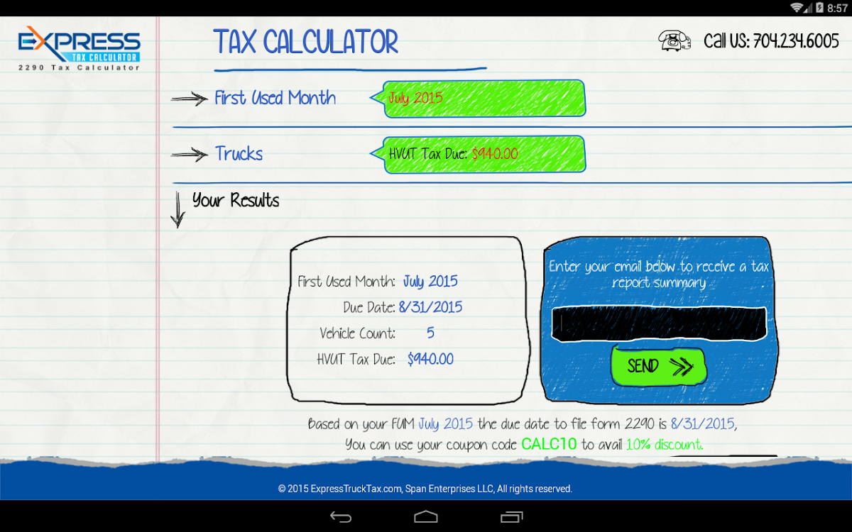 Form 2290 HVUT Tax Calculator – (Android Εφαρμογές) — AppAgg