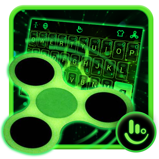 Fidget Spinner Neon Keyboard Theme
