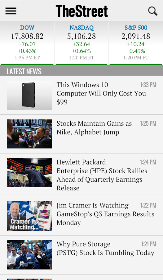 TheStreet - Financial News- screenshot