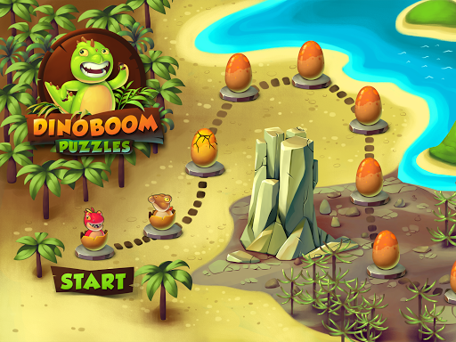 Dinoboom Puzzles game for Android screenshot