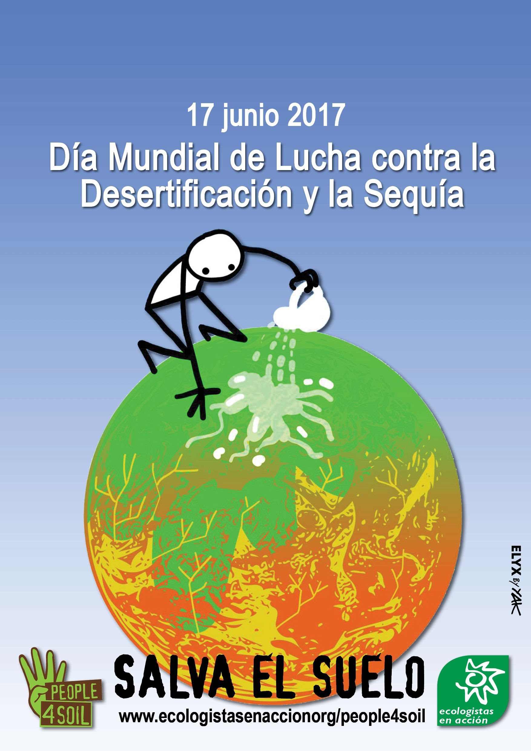 17 de Junio - Dia Mundial de Lucha contra la Desertificación y la Sequia. Imagen de .ecologistasenaccion.org