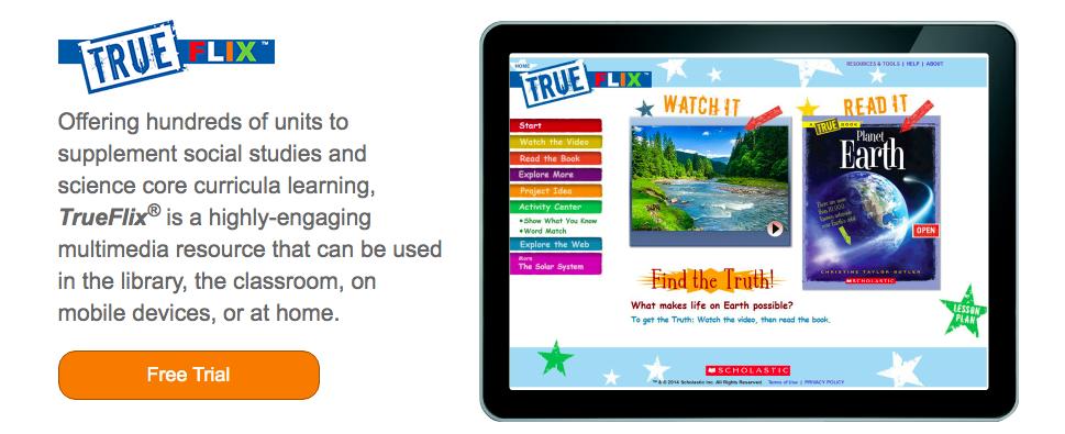 Online Resource: TrueFlix from Scholastic