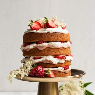 Strawberry and Elderflower Curd Layer Cake