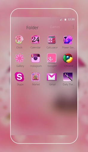 Pink Love Bear Theme screenshot