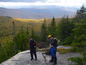Photo: Dave and Tommy on Bunnell Rock.