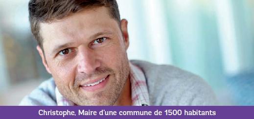 Christophe, Maire d'une commune de 1500 habitants