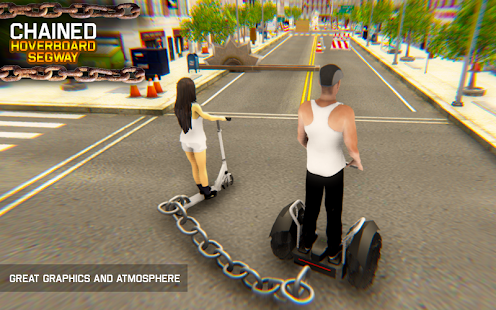 Chained Hoverboard Segway Scooter Trap Race - náhled