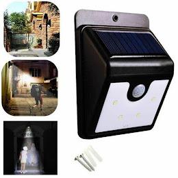 Set 3 x Lampa solara cu senzor de miscare