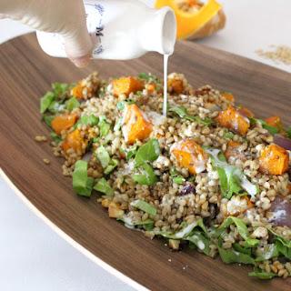 Barley & Pumpkin Salad with Coconut Dressing.