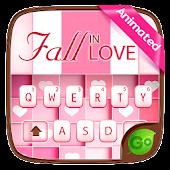 Tải Fall In Love GO Keyboard Animated Theme miễn phí