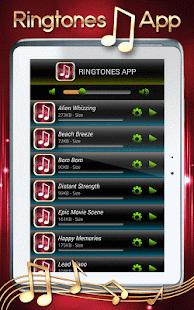 Vyzvánění App - náhled