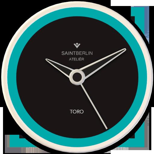 Toro Turquoise HD Analog Clock Widget
