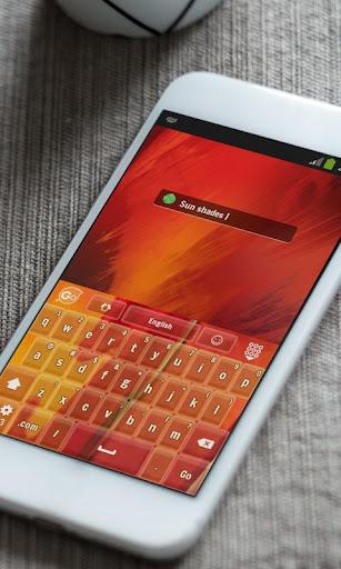 玩免費個人化APP|下載橙色和紅色 GO Keyboard app不用錢|硬是要APP