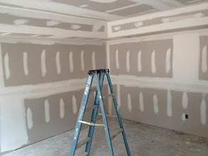 Photo: December 1, 2012 Drywall - master bedroom. Photo by Lake Weir Living