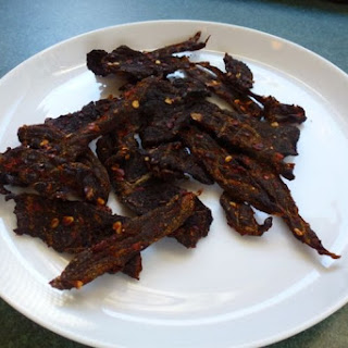 "Duck Jerky a la Kate Hill of ""Camont""."