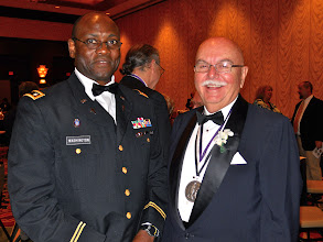 Photo: LCMS Chaplain Oliver Washington, an advisory delegate to the convention, with Chaplain Rodger Venzke, former director of LCMS Ministry to the Armed Forces and recipient of the Silver St. Martin of Tours Medal presented at the July 14 Recognition Dinner held in conjunction with the Synod Convention.