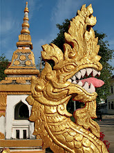 Photo: naga in Wat Mahathat, Nakhon Phanom