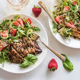 Grilled Balsamic Chicken with Strawberry Cucumber Salad (Summer Grilling Series) Recipe