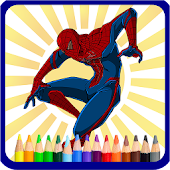 Superhero Coloring Book - Kids