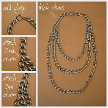 Photo: Photos and detailed instructions to make your statement necklace diy http://www.trinketsinbloom.com/wearable-diy/triple-chain-statement-necklace-diy/